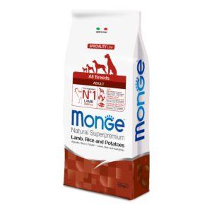 MONGE AGNELLO RISO PATATE  12 KG per Cani MONGE