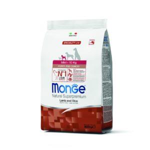 MONGE MINIPUP AGNELLO RISO 800 GR per Cani MONGE