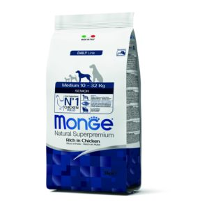 MONGE MEDIUM SENIOR  3 KG per Cani MONGE