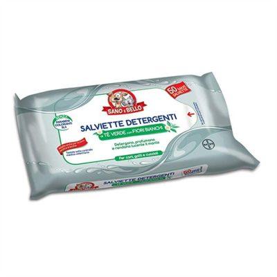 SALVIETTE DETERGENTI AL TE VERDE 50 PEZZI per  Bayer