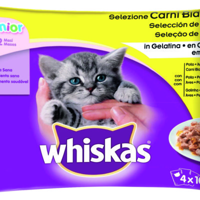 STRACCETTI JUNIOR ASSORTITO 4X85G per Gatti Whiskas