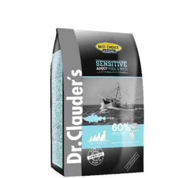 ADULT FISCH & RICE 350 GR per Cani DR CLAUDERS