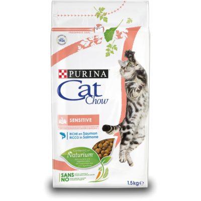 CAT CHOW SENSITIVE SALMONE 1.5KG per Gatti PURINA CAT CHOW