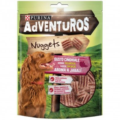 ADVENTUROS NUGGETS GUSTO CINGHIALE  90G per Cani PURINA ADVENTUROS