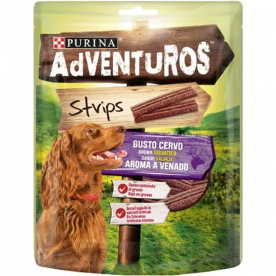 ADVENTUROS STRIPS GUSTO CERVO  90G per Cani PURINA ADVENTUROS