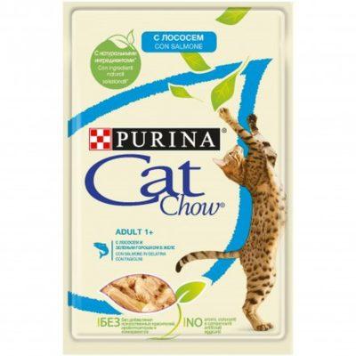 CAT CHOW  SALMONE E FAGIOLINI 85G per Gatti PURINA PRO PLAN