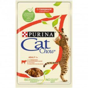 CAT CHOW MANZO E MELANZANE 85G per Gatti PURINA CAT CHOW