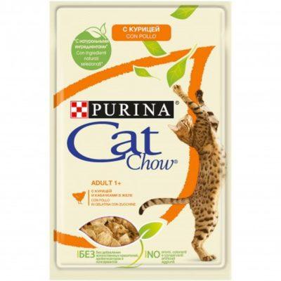 CAT CHOW POLLO E ZUCCHINE 85G per Gatti PURINA CAT CHOW