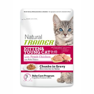 TRAINER NATURAL CAT KITTEN & YOUG WITH CHICKEN BUSTA per Gatti TRAINER
