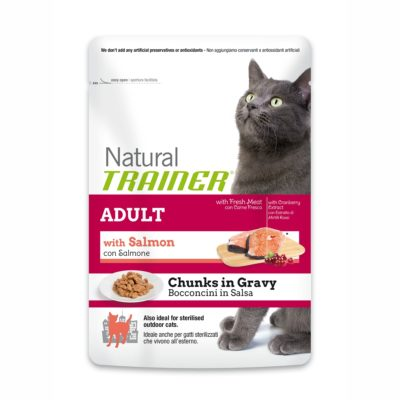TRAINER NATURAL CAT ADULT WITH SALMON BUSTA per Gatti TRAINER