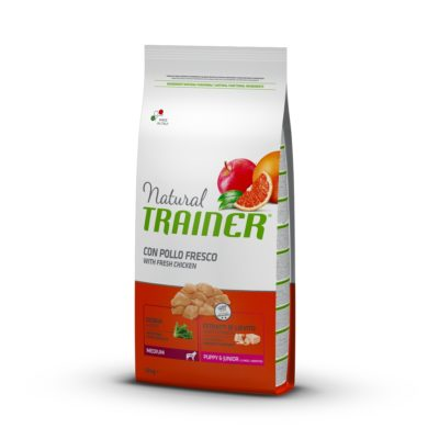 TRAINER NATURAL DOG MEDIUM PUPPY & JUNIOR POLLO FRESCO per Cani TRAINER