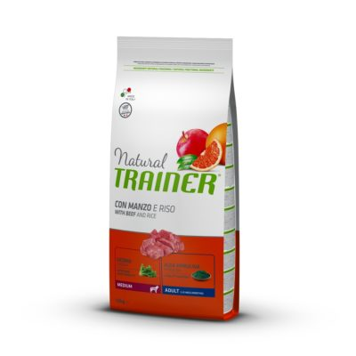 TRAINER NATURAL DOG MEDIUM ADULT MANZO E RISO per Cani TRAINER