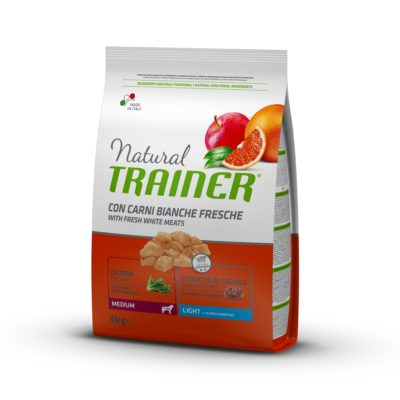 TRAINER NATURAL DOG MEDIUM LIGHT CARNI BIANCHE FRESCHE per Cani TRAINER