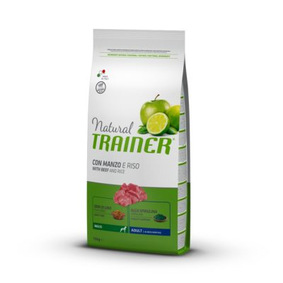 TRAINER NATURAL DOG MAXI ADULT MANZO E RISO per Cani TRAINER