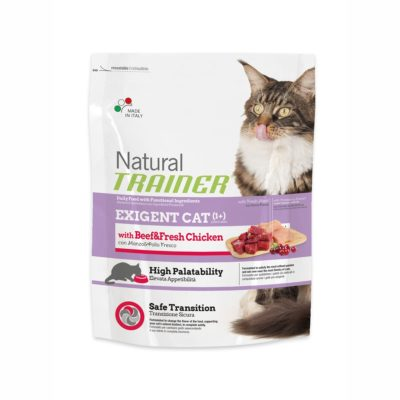TRAINER NATURAL EXIGENT CAT WITH BEEF  & FRESH CHICKEN FL per Gatti TRAINER