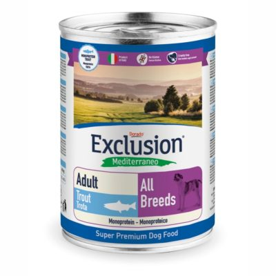 TROUT ALL BREEDS CONF. 400 GR ADULT per CANI Exclusion