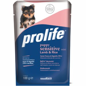 PROLIFE DOG BUSTA 100 GR PUPPY SENSITIVE per CANI Prolife
