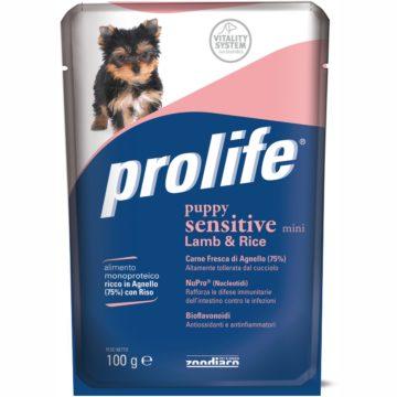PROLIFE DOG BUSTA 100 GR PUPPY SENSITIVE per CANI Prolife