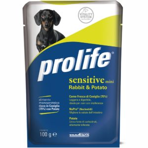 PROLIFE DOG BUSTA 100 GR SENSITIVE RABBI per CANI Prolife