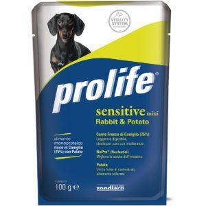 PROLIFE DOG BUSTA 100 GR SENSITIVE RABBI per CANI Prolife