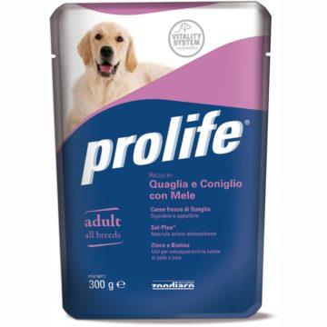 PROLIFE DOG BUSTA 300 GR QUAGLIA/CONIGLI per CANI Prolife